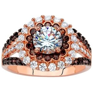 Chocolate Champagne Diamonds Ring